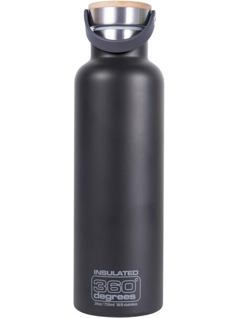 360° degrees Vacuum Insulated Drink Bottle 750ml black
